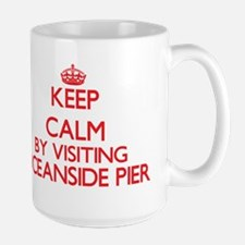 Keep calm by visiting Oceanside Pier Californ Mugs