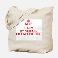 Keep calm by visiting Oceanside Pier Cali Tote Bag