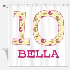 10th Birthday Personalized Shower Curtain