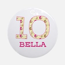 10th Birthday Personalized Ornament (Round)
