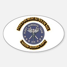 Fleet Surgical Team Six With Text Sticker (oval)