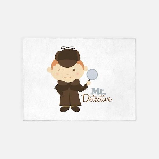 Mr Detective 5'x7'Area Rug