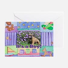 It's a Boy Bulldog Greeting Cards (Pk of 10)