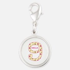 9th Birthday Personalized Silver Round Charm