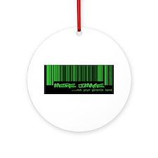 Cute Barcode Ornament (Round)