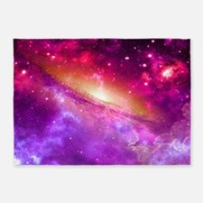 Red And Purple Nebula 5'x7'Area Rug