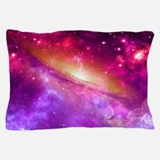 Red And Purple Nebula Pillow Case