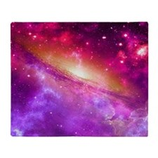 Red And Purple Nebula Throw Blanket