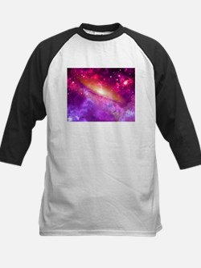 Red And Purple Nebula Baseball Jersey