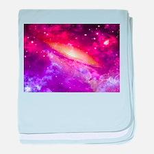 Red And Purple Nebula baby blanket