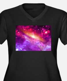 Red And Purple Nebula Plus Size T-Shirt