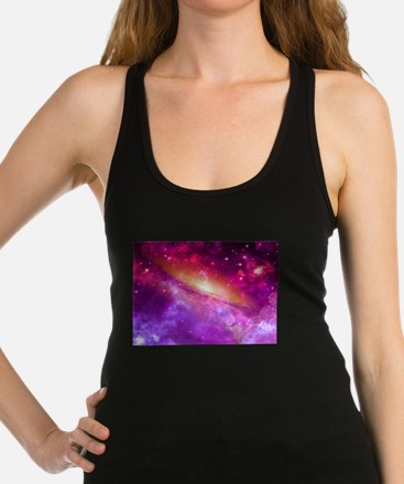 Red And Purple Nebula Racerback Tank Top