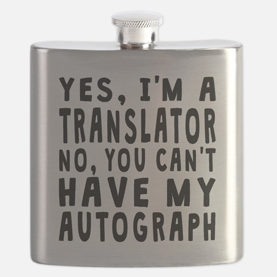 Translator Autograph Flask