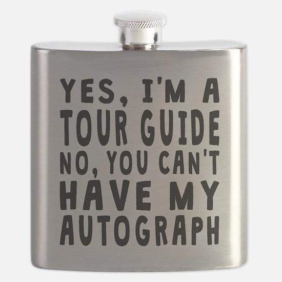 Tour Guide Autograph Flask