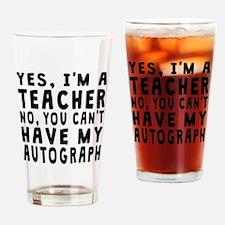 Teacher Autograph Drinking Glass