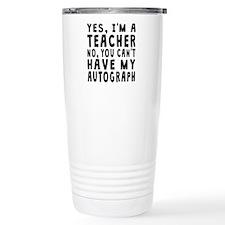 Teacher Autograph Travel Mug