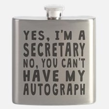 Secretary Autograph Flask