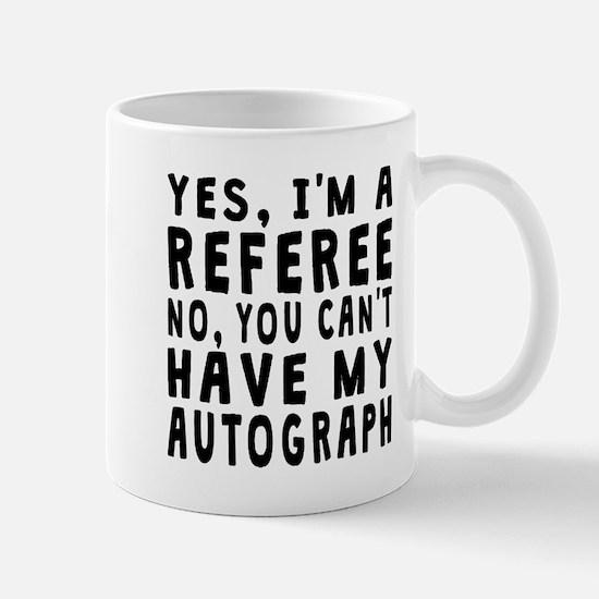 Referee Autograph Mugs