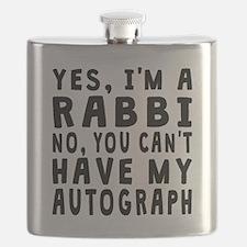 Rabbi Autograph Flask