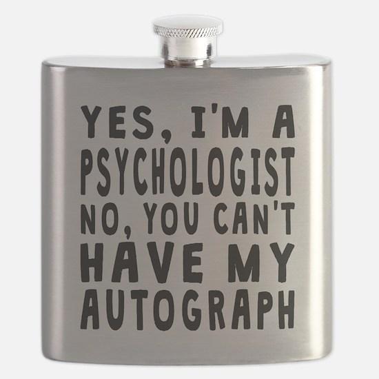 Psychologist Autograph Flask