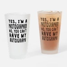 Photographer Autograph Drinking Glass