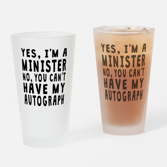 Minister Autograph Drinking Glass