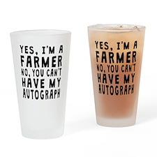 Farmer Autograph Drinking Glass