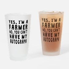 Farmer Autograph Drinking Glass
