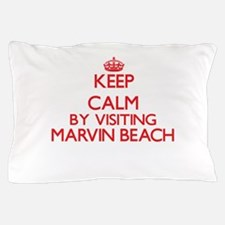 Keep calm by visiting Marvin Beach Con Pillow Case