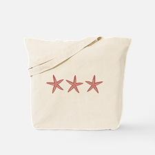 Coral Pink Starfish Tote Bag