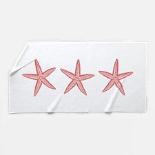 Coral Pink Starfish Beach Towel