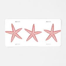 Coral Pink Starfish Aluminum License Plate