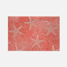 Coral Pink Starfish Pattern Magnets