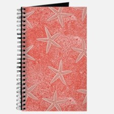 Coral Pink Starfish Pattern Journal