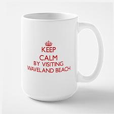 Keep calm by visiting Waveland Beach Mississi Mugs