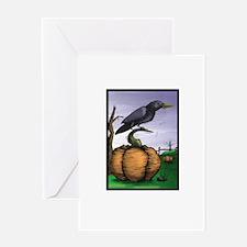 Halloween Crow Greeting Card