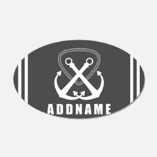 Gray and White Double Anchor Wall Decal