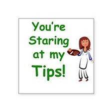 "Funny Tip jars Square Sticker 3"" x 3"""