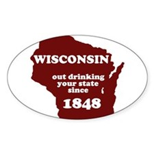 Cool Wisconsin badgers Decal