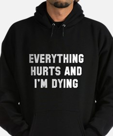 Race everything hurts Hoodie (dark)
