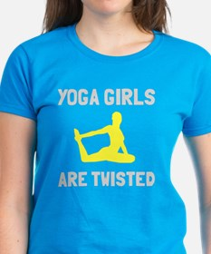 Yoga girls are twisted Tee