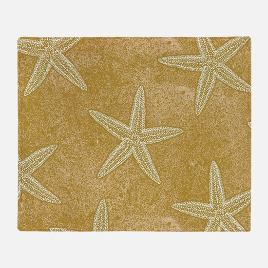 Sand Starfish Throw Blanket