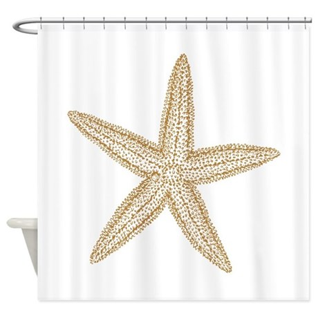 Sand Starfish Shower Curtain