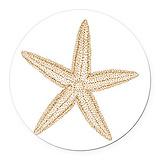 Starfish Round Car Magnets