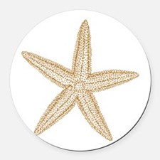 Sand Starfish Round Car Magnet