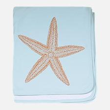 Sand Starfish baby blanket