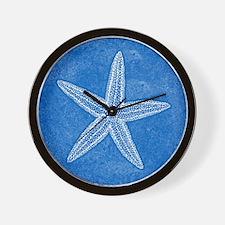 Aqua Blue Starfish Wall Clock