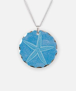 Aqua Blue Starfish Necklace
