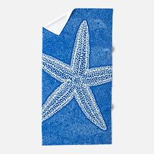 Aqua Blue Starfish Beach Towel