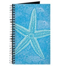 Aqua Blue Starfish Journal